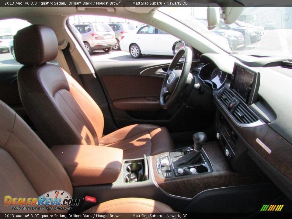 2013 Audi A6 3.0T quattro Sedan Brilliant Black / Nougat Brown Photo #17