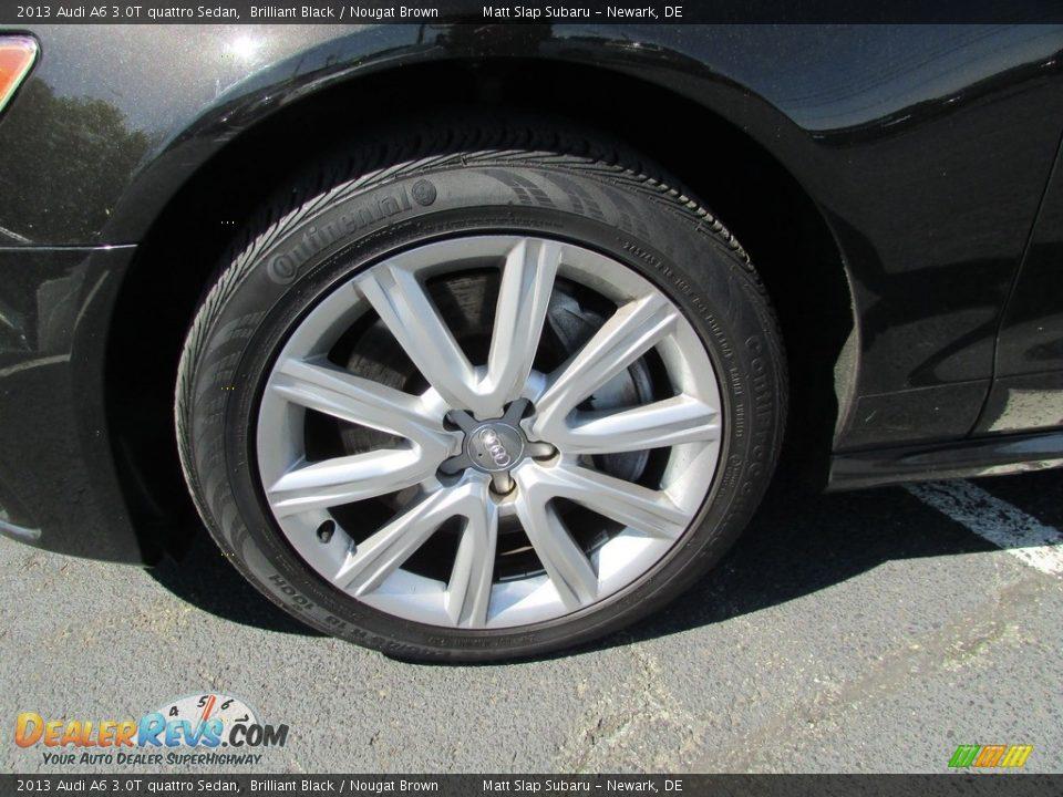 2013 Audi A6 3.0T quattro Sedan Brilliant Black / Nougat Brown Photo #23