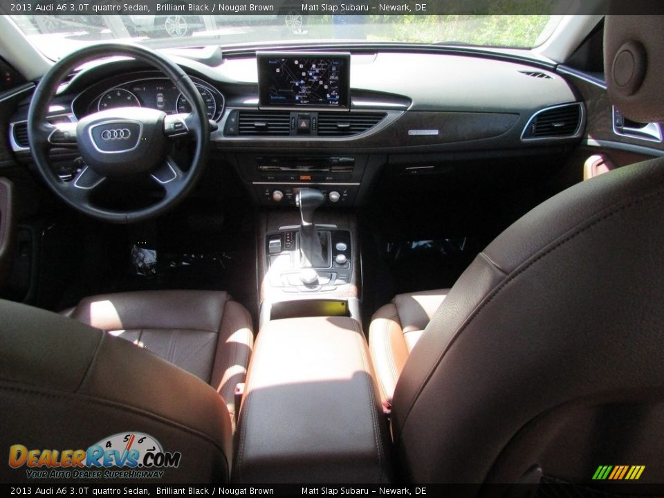 2013 Audi A6 3.0T quattro Sedan Brilliant Black / Nougat Brown Photo #25