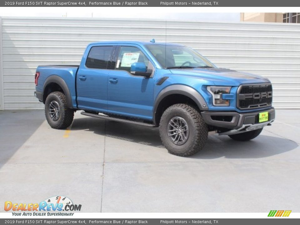 2019 Ford F150 SVT Raptor SuperCrew 4x4 Performance Blue / Raptor Black Photo #2