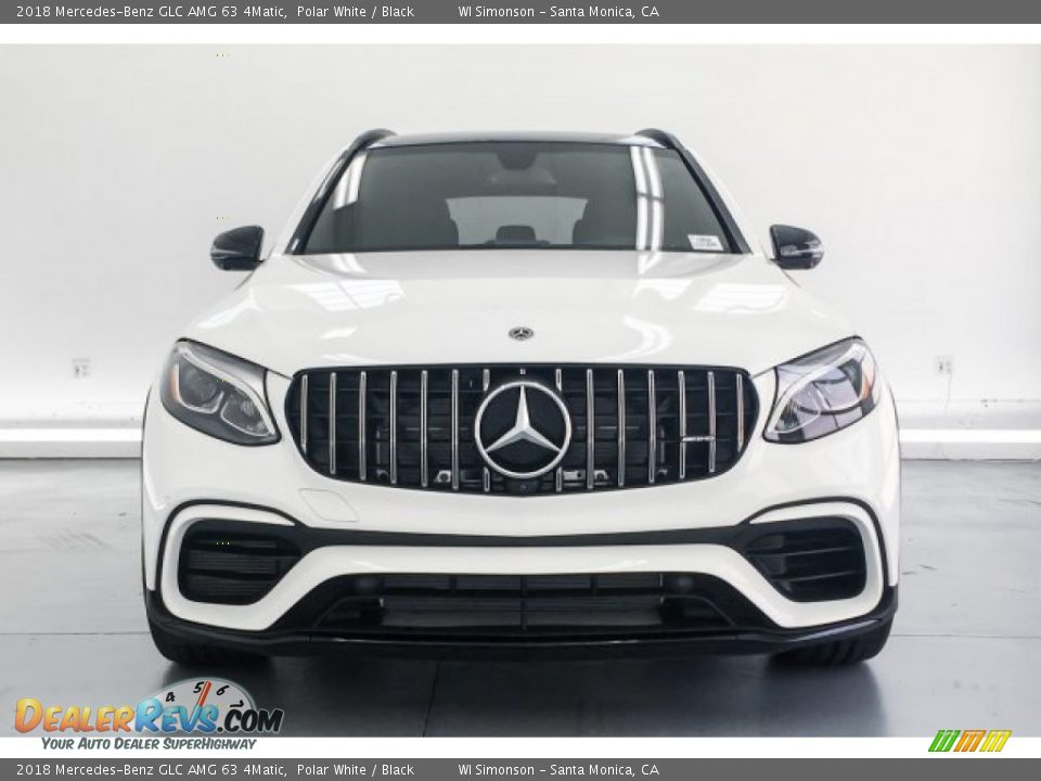 2018 Mercedes-Benz GLC AMG 63 4Matic Polar White / Black Photo #2