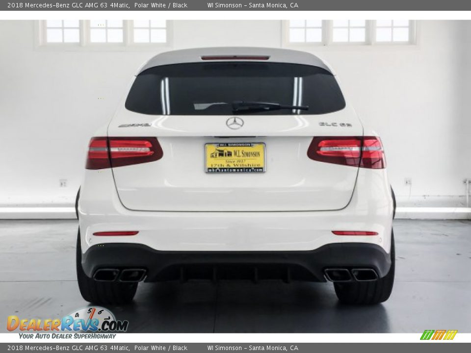 2018 Mercedes-Benz GLC AMG 63 4Matic Polar White / Black Photo #3
