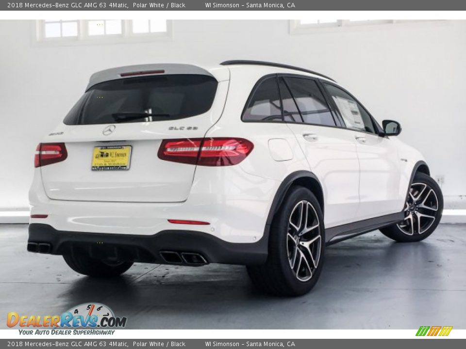 2018 Mercedes-Benz GLC AMG 63 4Matic Polar White / Black Photo #16