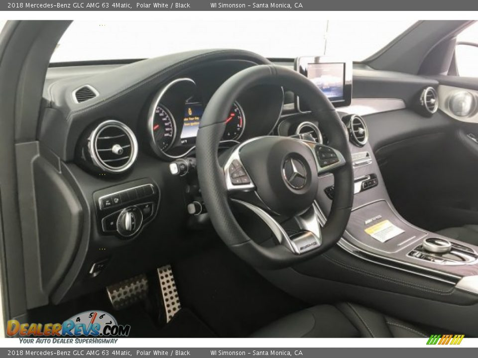2018 Mercedes-Benz GLC AMG 63 4Matic Polar White / Black Photo #20