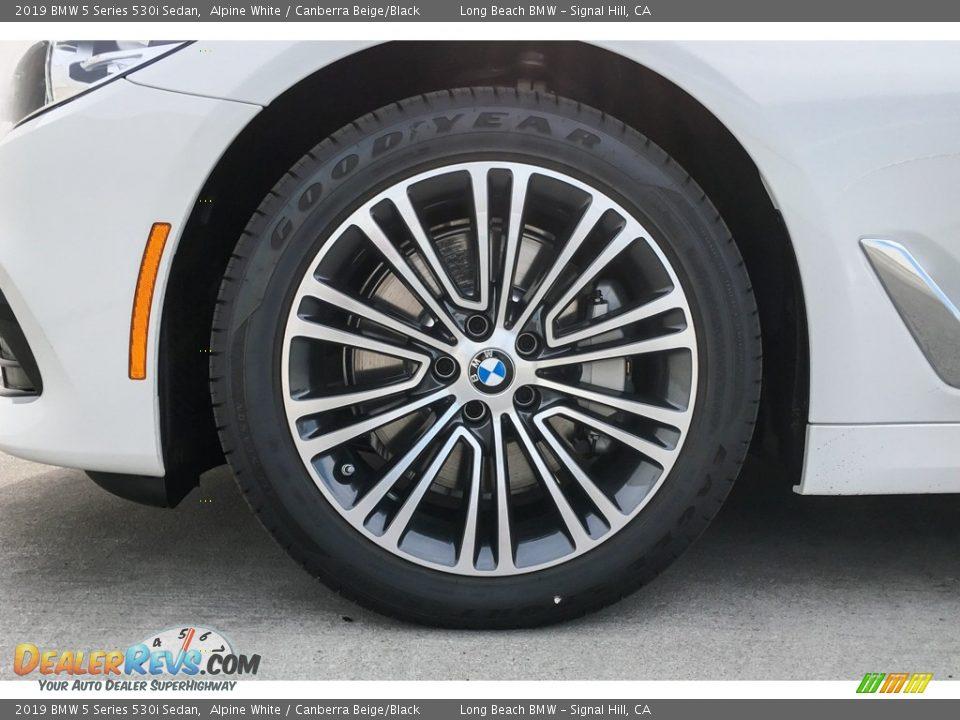 2019 BMW 5 Series 530i Sedan Alpine White / Canberra Beige/Black Photo #9