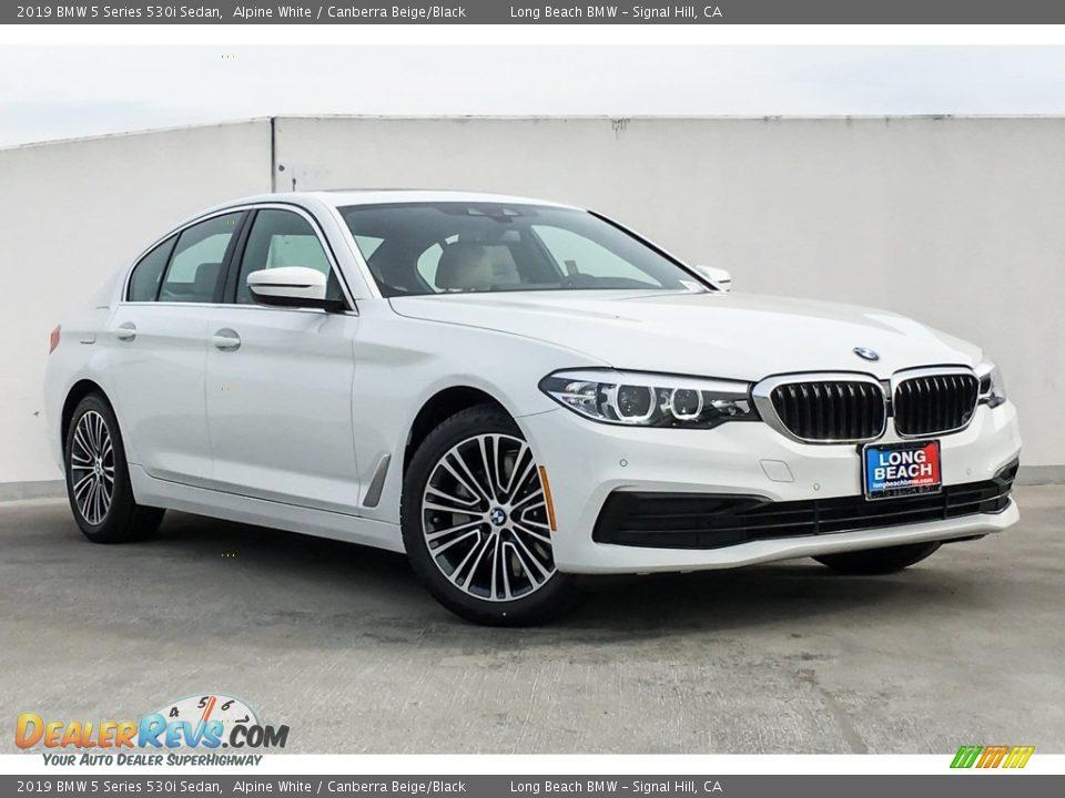 2019 BMW 5 Series 530i Sedan Alpine White / Canberra Beige/Black Photo #10