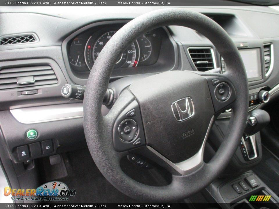 2016 Honda CR-V EX AWD Alabaster Silver Metallic / Black Photo #12