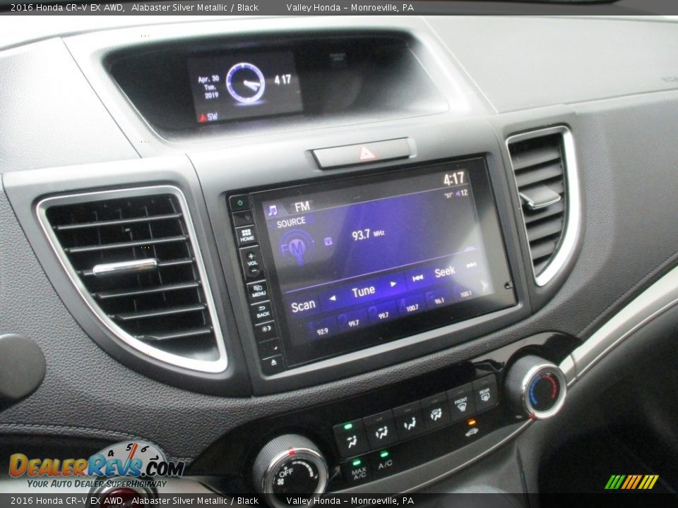 2016 Honda CR-V EX AWD Alabaster Silver Metallic / Black Photo #13