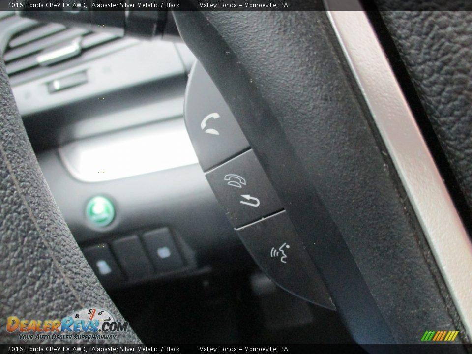 2016 Honda CR-V EX AWD Alabaster Silver Metallic / Black Photo #18