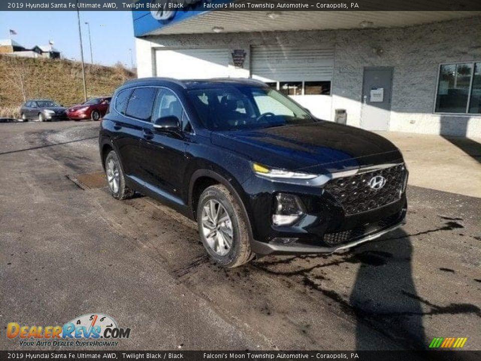 2019 Hyundai Santa Fe Ultimate AWD Twilight Black / Black Photo #1