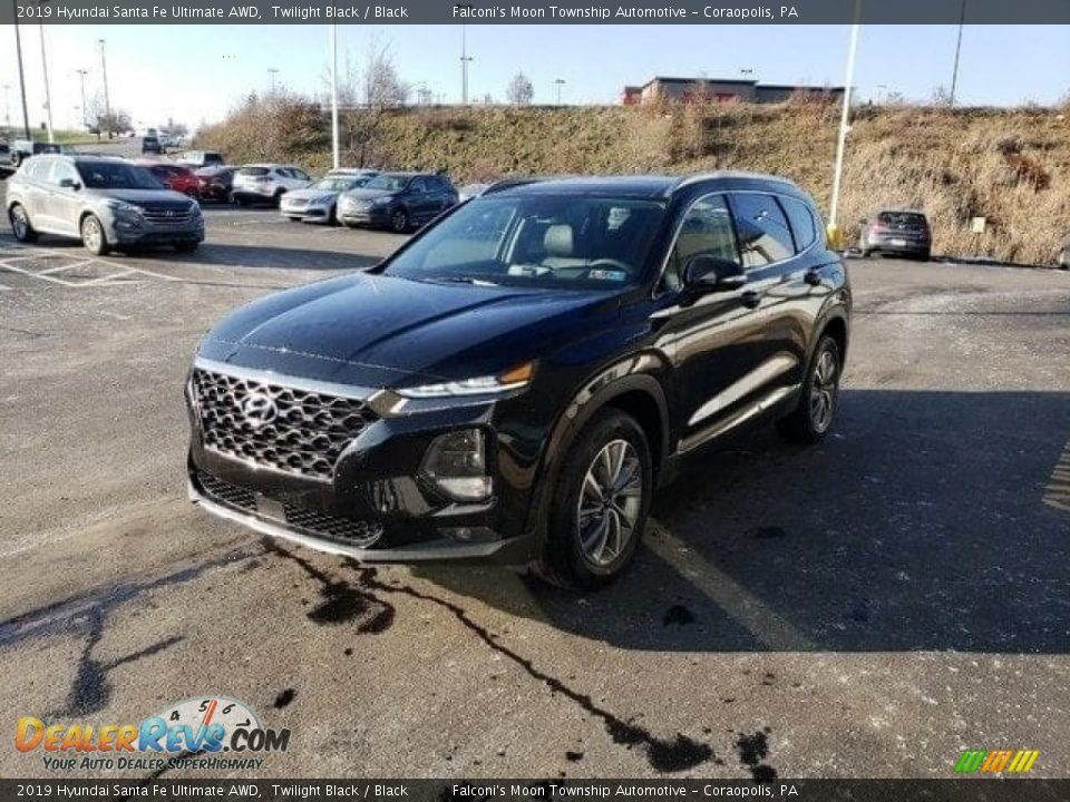 2019 Hyundai Santa Fe Ultimate AWD Twilight Black / Black Photo #3