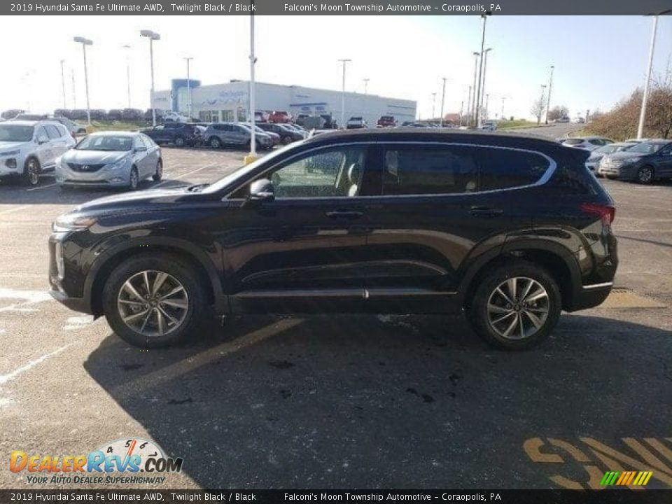 2019 Hyundai Santa Fe Ultimate AWD Twilight Black / Black Photo #4