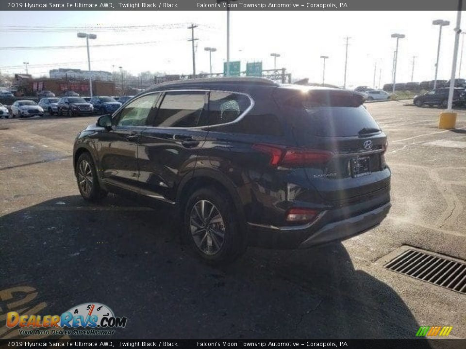 2019 Hyundai Santa Fe Ultimate AWD Twilight Black / Black Photo #5