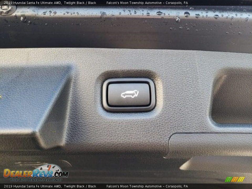 2019 Hyundai Santa Fe Ultimate AWD Twilight Black / Black Photo #14