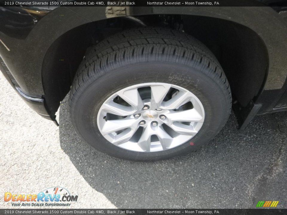 2019 Chevrolet Silverado 1500 Custom Double Cab 4WD Black / Jet Black Photo #2