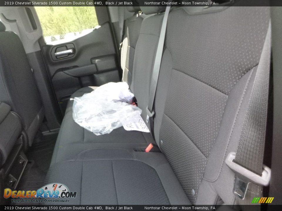 2019 Chevrolet Silverado 1500 Custom Double Cab 4WD Black / Jet Black Photo #13