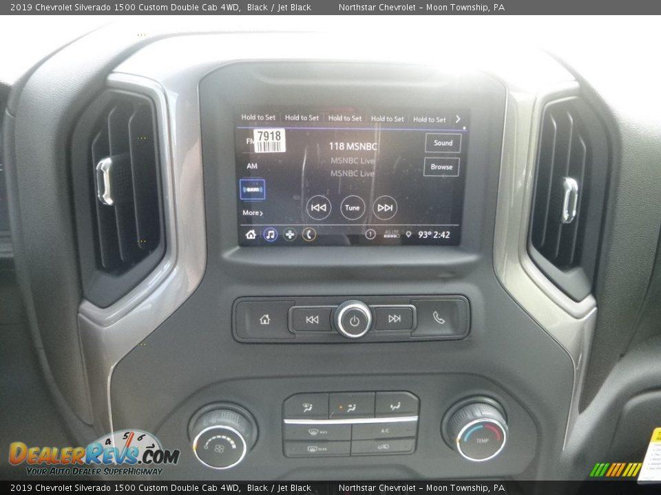 2019 Chevrolet Silverado 1500 Custom Double Cab 4WD Black / Jet Black Photo #18