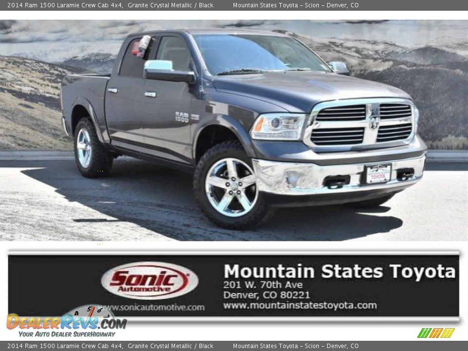2014 Ram 1500 Laramie Crew Cab 4x4 Granite Crystal Metallic / Black Photo #1