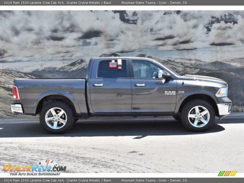 2014 Ram 1500 Laramie Crew Cab 4x4 Granite Crystal Metallic / Black Photo #2