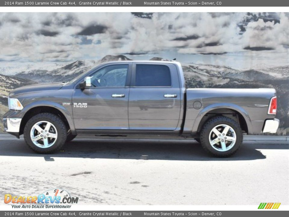 2014 Ram 1500 Laramie Crew Cab 4x4 Granite Crystal Metallic / Black Photo #6