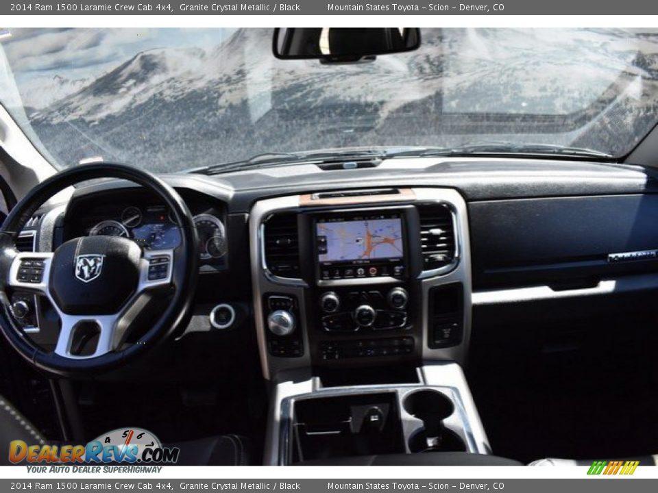 2014 Ram 1500 Laramie Crew Cab 4x4 Granite Crystal Metallic / Black Photo #13