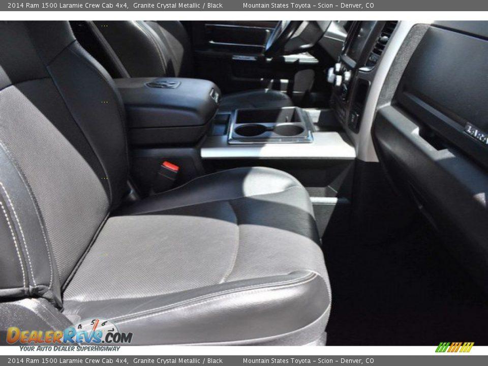 2014 Ram 1500 Laramie Crew Cab 4x4 Granite Crystal Metallic / Black Photo #18