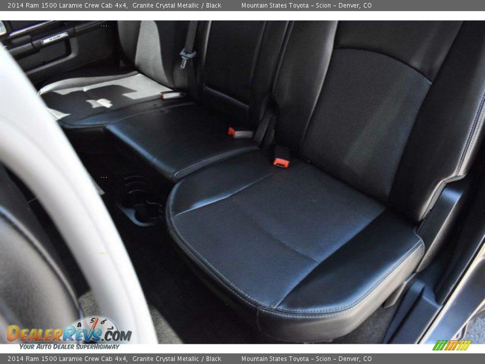2014 Ram 1500 Laramie Crew Cab 4x4 Granite Crystal Metallic / Black Photo #22