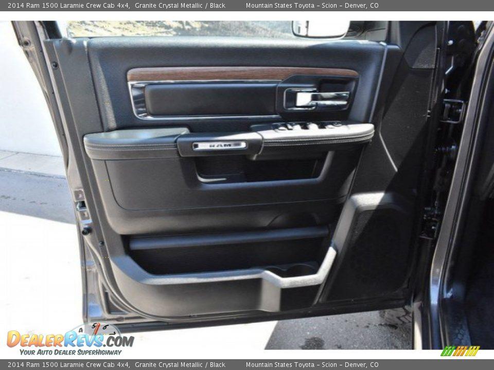 2014 Ram 1500 Laramie Crew Cab 4x4 Granite Crystal Metallic / Black Photo #25