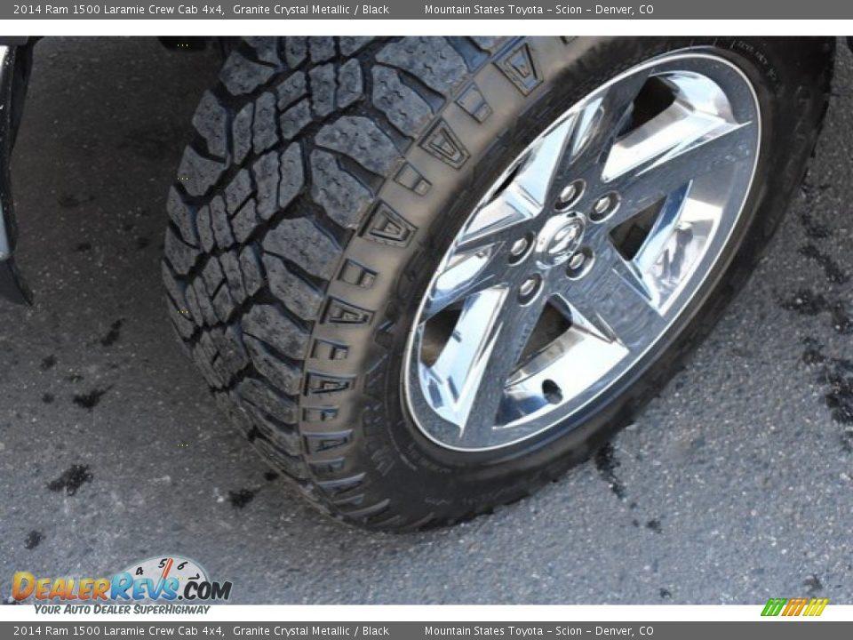 2014 Ram 1500 Laramie Crew Cab 4x4 Granite Crystal Metallic / Black Photo #29