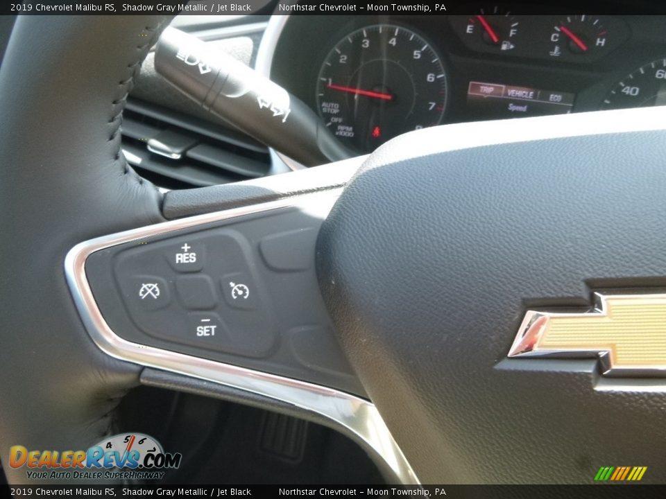 2019 Chevrolet Malibu RS Shadow Gray Metallic / Jet Black Photo #20
