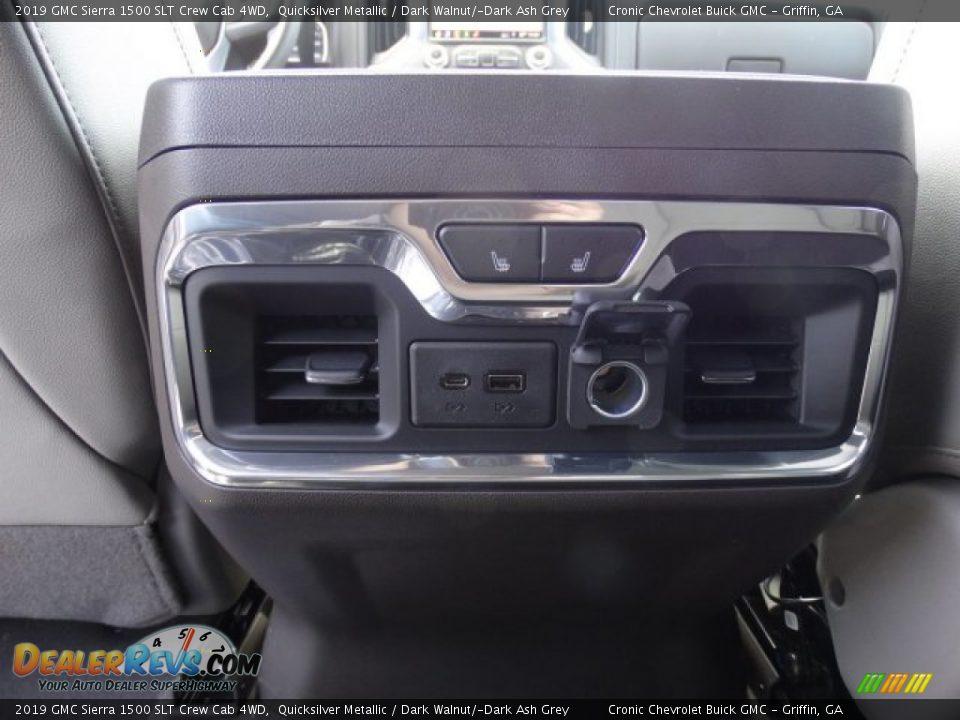 2019 GMC Sierra 1500 SLT Crew Cab 4WD Quicksilver Metallic / Dark Walnut/Dark Ash Grey Photo #28