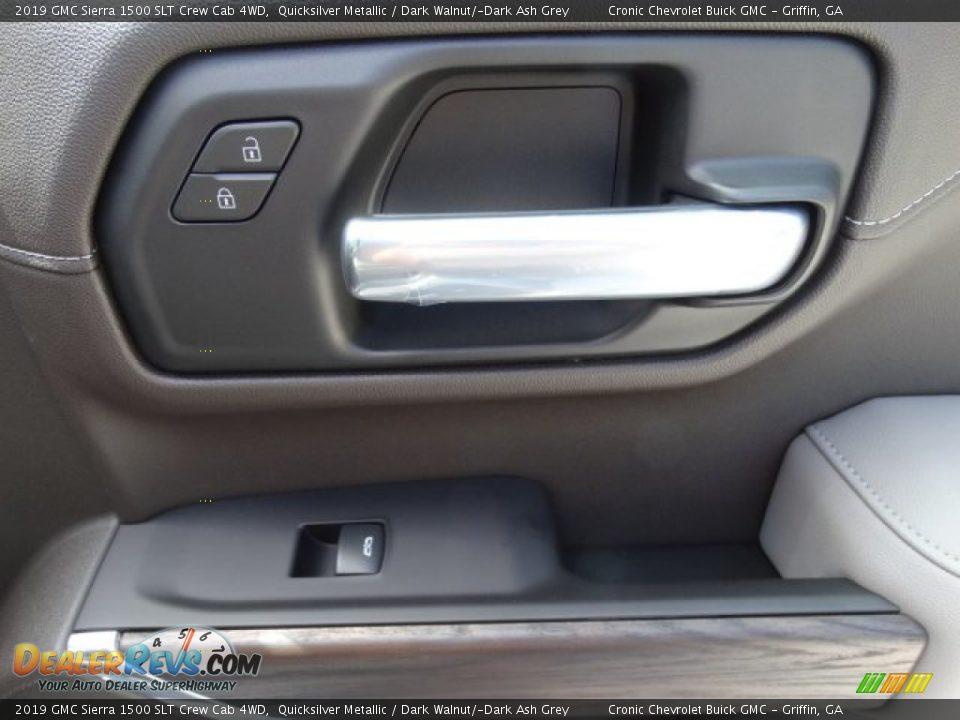 2019 GMC Sierra 1500 SLT Crew Cab 4WD Quicksilver Metallic / Dark Walnut/Dark Ash Grey Photo #30