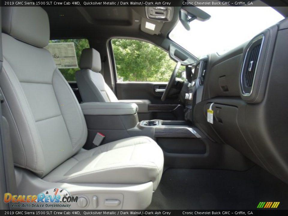 2019 GMC Sierra 1500 SLT Crew Cab 4WD Quicksilver Metallic / Dark Walnut/Dark Ash Grey Photo #31