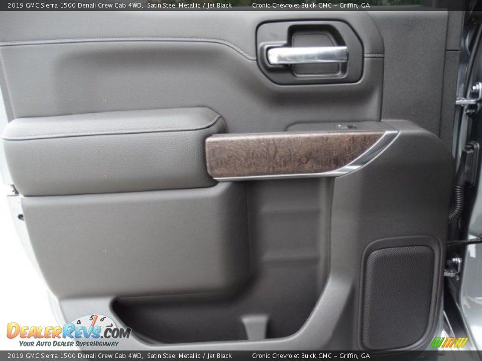 2019 GMC Sierra 1500 Denali Crew Cab 4WD Satin Steel Metallic / Jet Black Photo #26