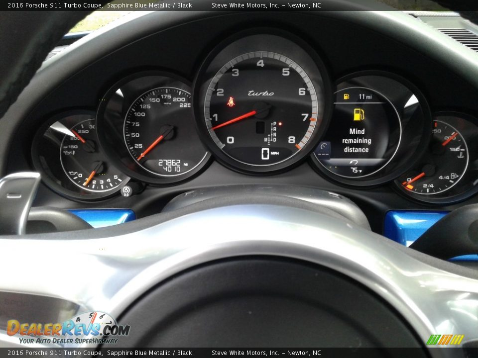 2016 Porsche 911 Turbo Coupe Gauges Photo #19
