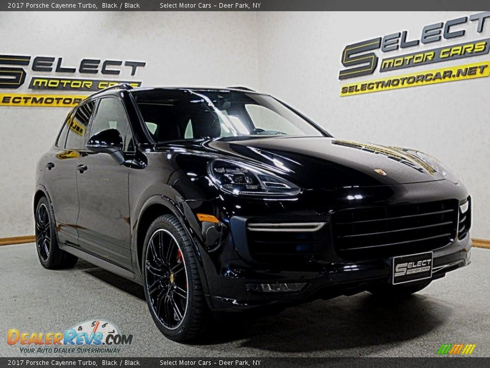 2017 Porsche Cayenne Turbo Black / Black Photo #3