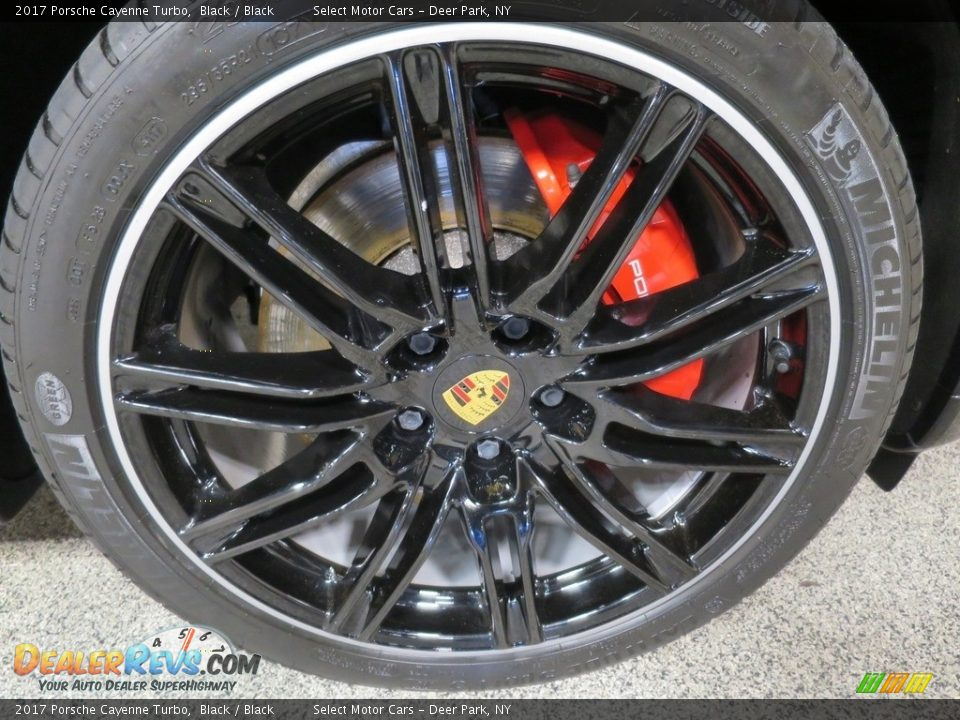 2017 Porsche Cayenne Turbo Black / Black Photo #12