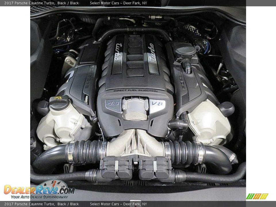 2017 Porsche Cayenne Turbo Black / Black Photo #31