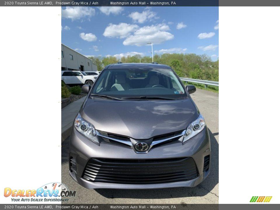 2020 Toyota Sienna LE AWD Predawn Gray Mica / Ash Photo #2