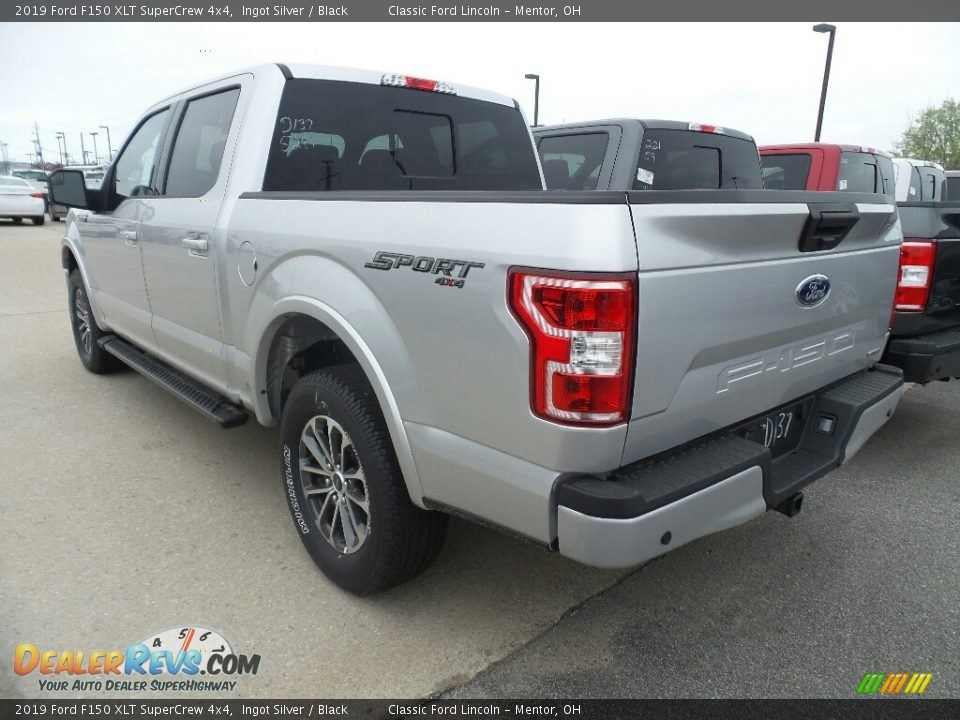 2019 Ford F150 XLT SuperCrew 4x4 Ingot Silver / Black Photo #3
