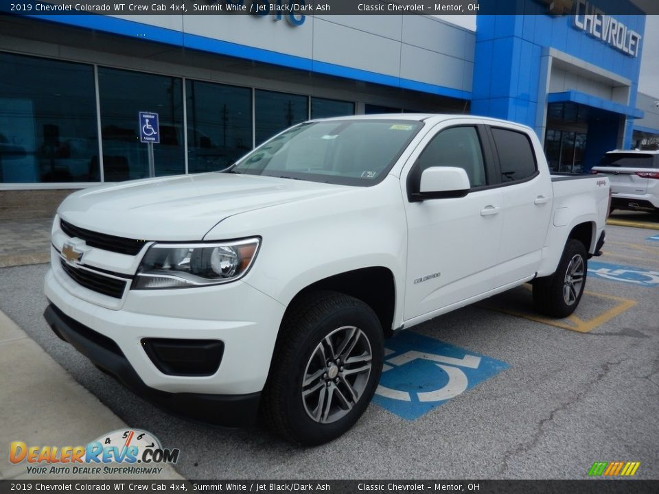 2019 Chevrolet Colorado WT Crew Cab 4x4 Summit White / Jet Black/Dark Ash Photo #1