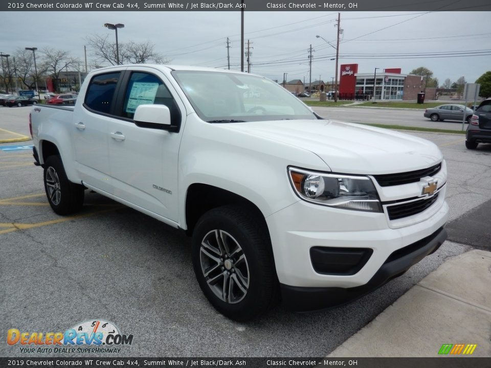 2019 Chevrolet Colorado WT Crew Cab 4x4 Summit White / Jet Black/Dark Ash Photo #3