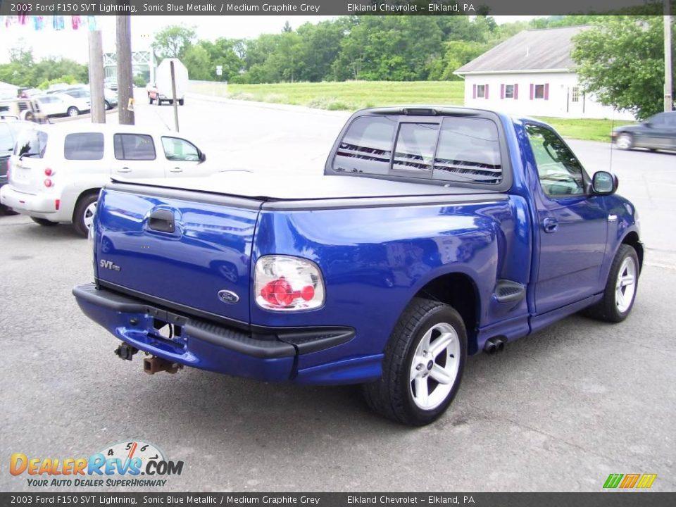 Sonic Blue Metallic 2003 Ford F150 SVT Lightning Photo #4 | DealerRevs ...