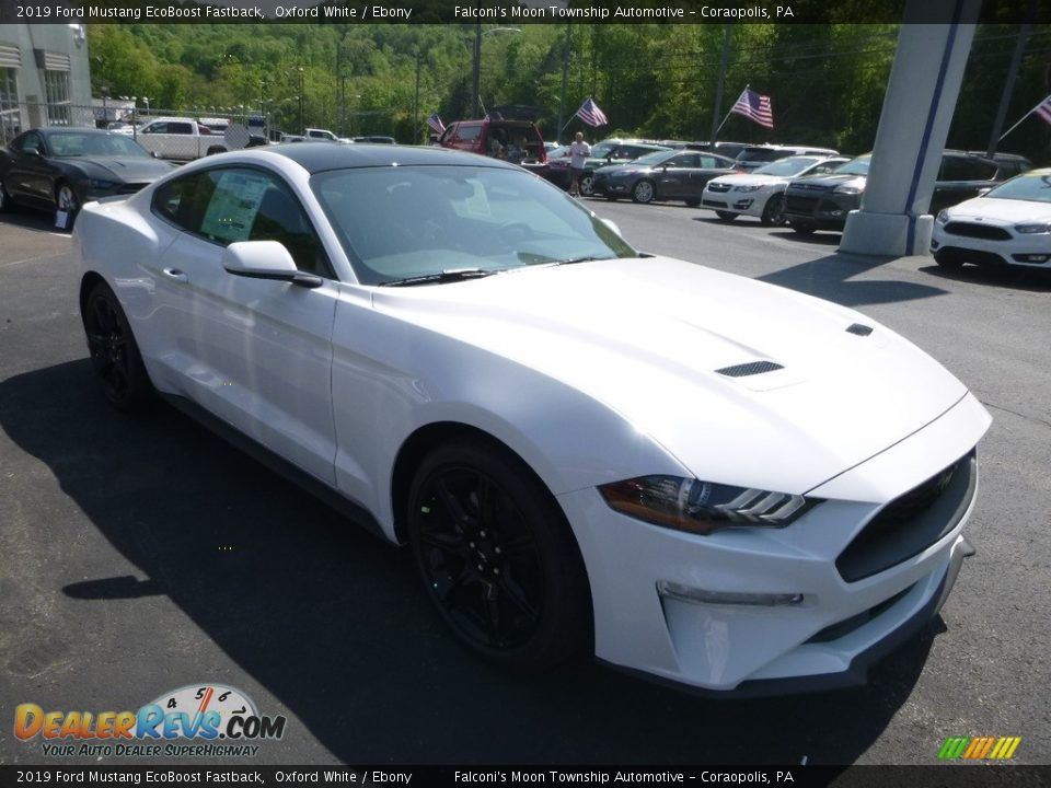 2019 Ford Mustang EcoBoost Fastback Oxford White / Ebony Photo #3
