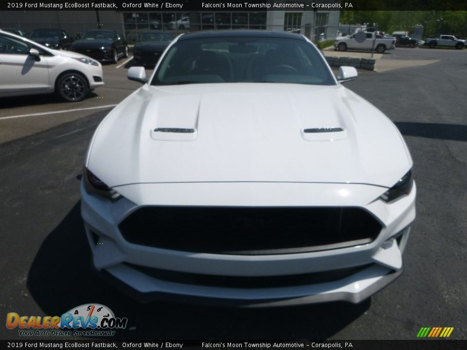 2019 Ford Mustang EcoBoost Fastback Oxford White / Ebony Photo #4