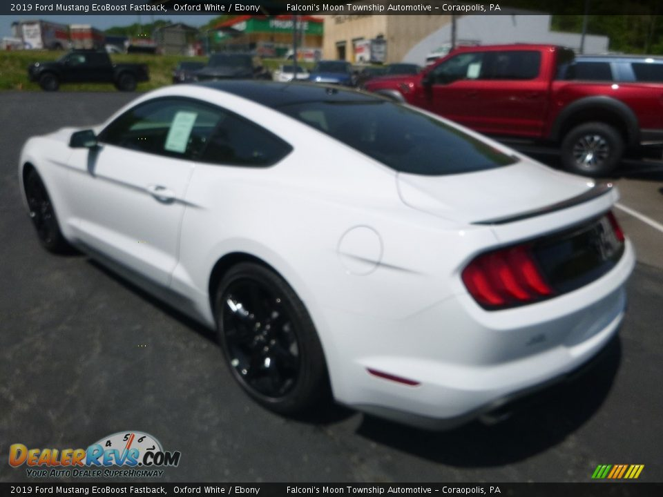 2019 Ford Mustang EcoBoost Fastback Oxford White / Ebony Photo #7