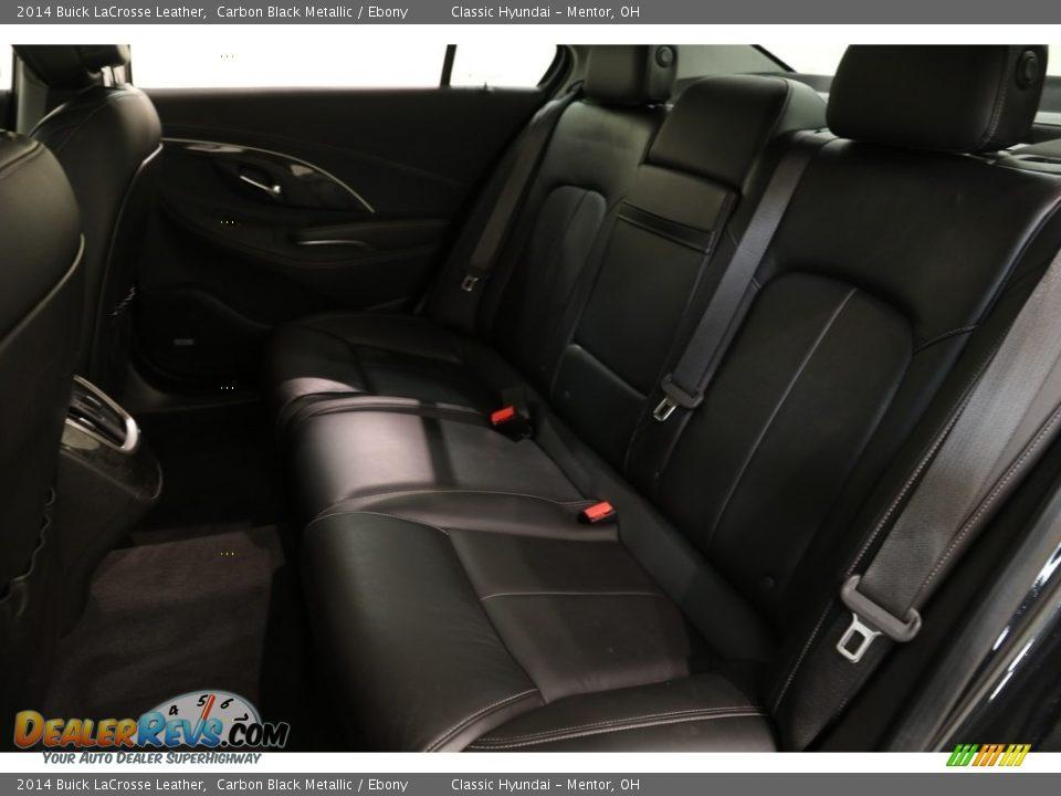 2014 Buick LaCrosse Leather Carbon Black Metallic / Ebony Photo #18