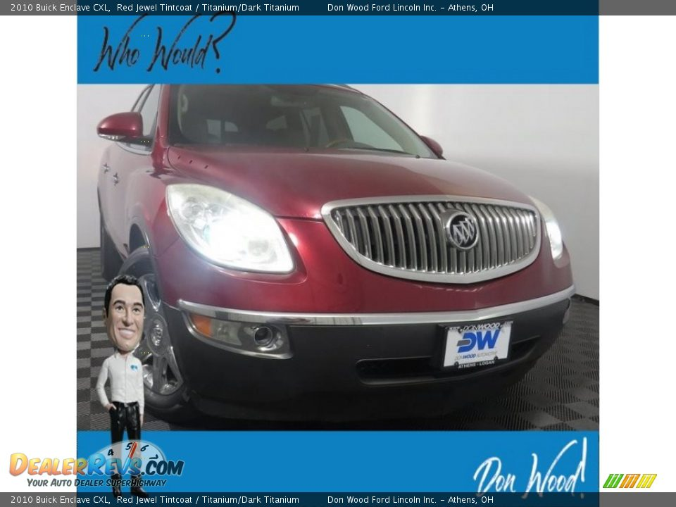 2010 Buick Enclave CXL Red Jewel Tintcoat / Titanium/Dark Titanium Photo #1