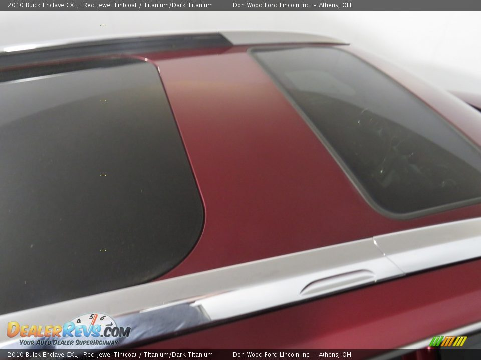 2010 Buick Enclave CXL Red Jewel Tintcoat / Titanium/Dark Titanium Photo #3