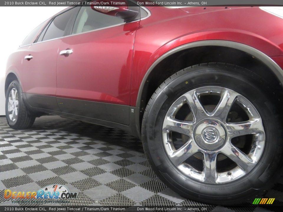 2010 Buick Enclave CXL Red Jewel Tintcoat / Titanium/Dark Titanium Photo #5